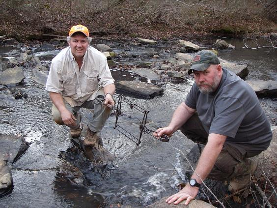 beaver trapping in creek